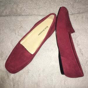 NIB Enzo Angiolini 8.5 Red Loafer Flat Shoes